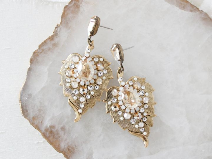 Tmx Antique Gold Leaf Earrings 2123x1540 51 204409 158446233795433 Allentown, PA wedding jewelry