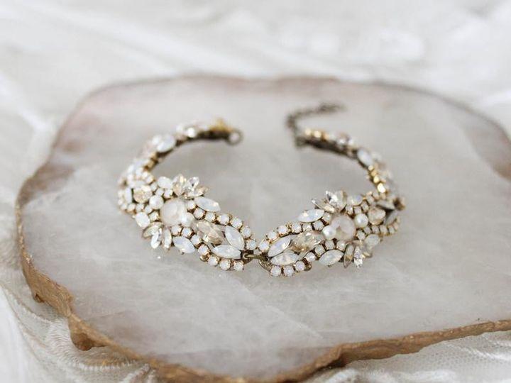 Tmx Antique Gold Swarovski Crystal Beaded Bracelet 51 204409 157454951027038 Allentown, PA wedding jewelry