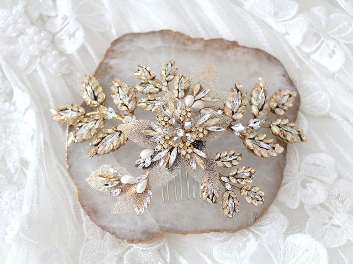 Tmx Antique Gold Swarovski Crystal Bridal Hair Comb 1588x1059 51 204409 158446659979256 Allentown, PA wedding jewelry