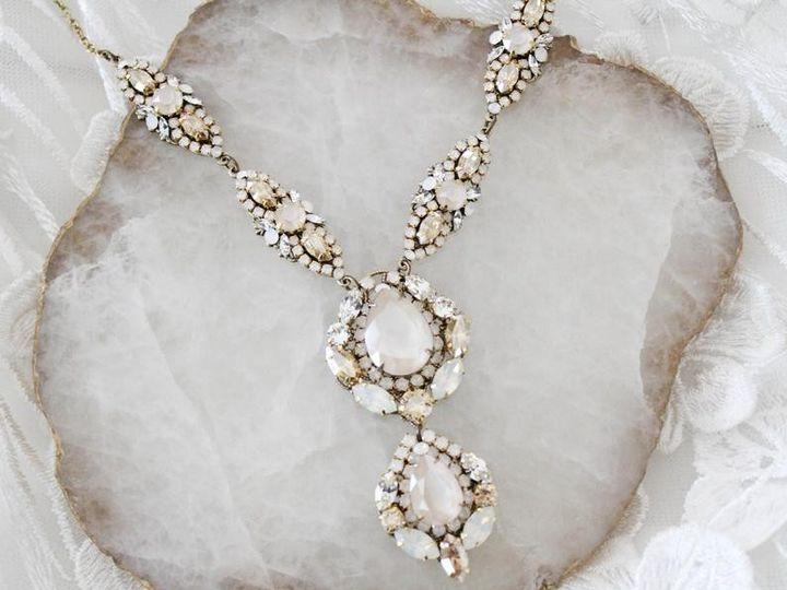 Tmx Antique Gold Swarovski Crystal Bridal Necklace 51 204409 157454956151337 Allentown, PA wedding jewelry