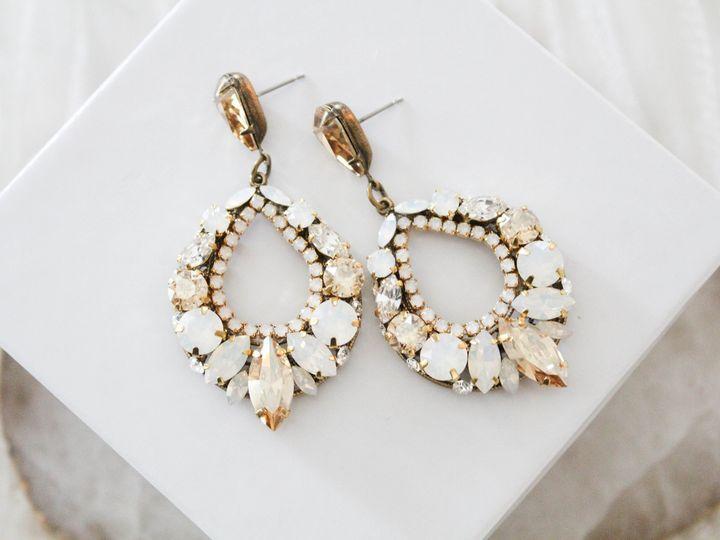Tmx Antique Gold Swarovski Crystal Hoop Earrings 51 204409 157454958249954 Allentown, PA wedding jewelry
