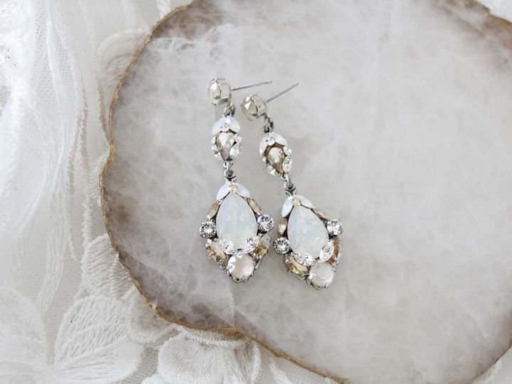 Tmx Antique Silver Swarovski Crystal Bridal Earrings 51 204409 157454959785139 Allentown, PA wedding jewelry