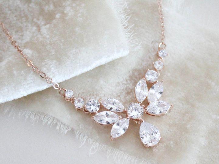 Tmx Dainty Rose Gold Cz Bridal Necklace 2507x2092 51 204409 158446444025887 Allentown, PA wedding jewelry