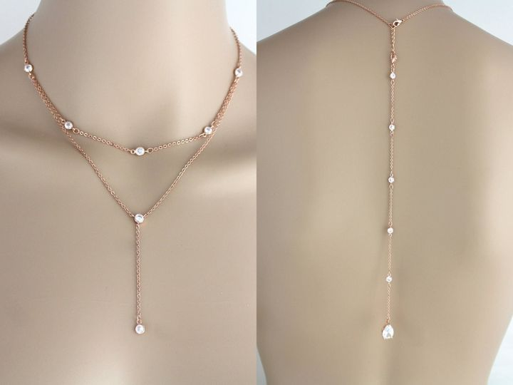 Tmx Delicate Rose Gold Back Necklace 1588x1227 51 204409 158446503039269 Allentown, PA wedding jewelry