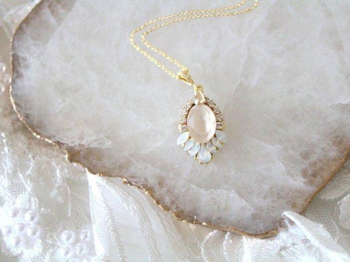 Tmx Gold Bridal Necklace With Swarovski Crystals 794x529 2 51 204409 158446546718605 Allentown, PA wedding jewelry