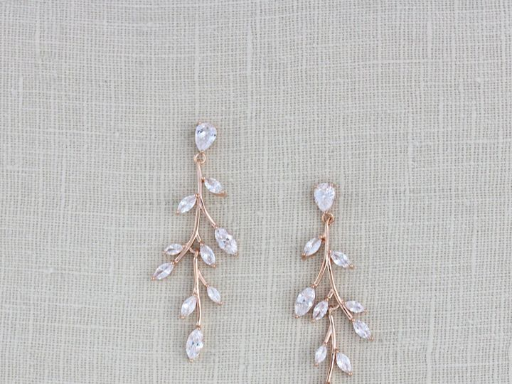 Tmx Long Rose Gold Bridal Earrings 2717x3000 51 204409 158446365256538 Allentown, PA wedding jewelry