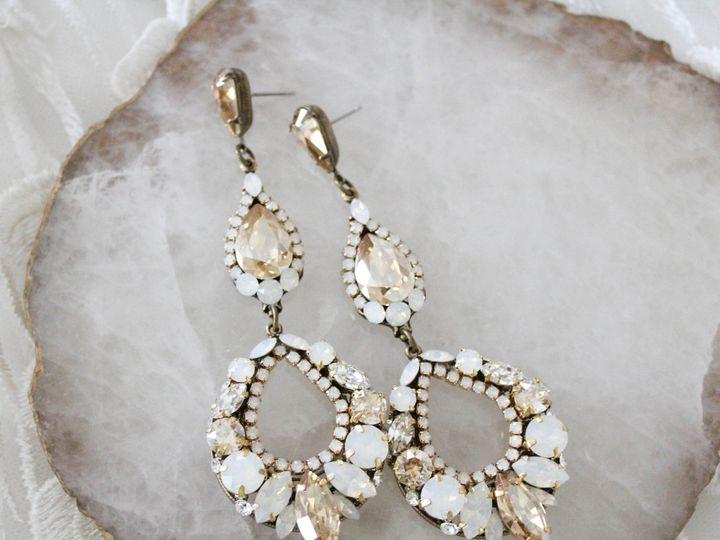 Tmx Long Swarovski Crystal Bridal Earrings 51 204409 157454968879640 Allentown, PA wedding jewelry