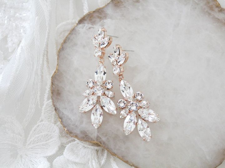 Tmx Rose Gold Bridal Chandelier Earrings With Swarovski Crystals 51 204409 157454970246243 Allentown, PA wedding jewelry