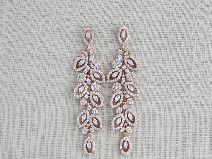 Tmx Rose Gold Crystal Bridal Earrings 2535x2225 51 204409 158446369615342 Allentown, PA wedding jewelry