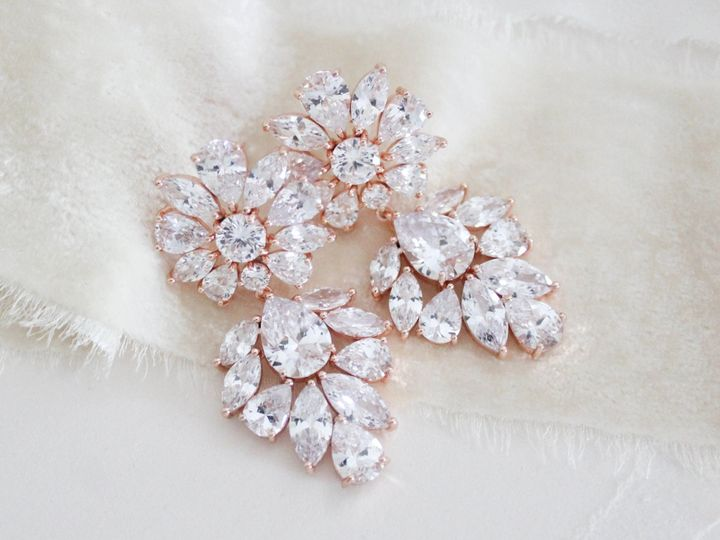 Tmx Rose Gold Cubic Zirconia Bridal Earrings 2520x1940 51 204409 158446348257418 Allentown, PA wedding jewelry