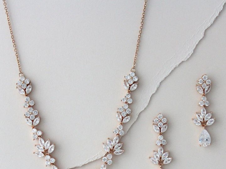 Tmx Rose Gold Leaf Style Bridal Set 2399x2517 51 204409 158446511617009 Allentown, PA wedding jewelry