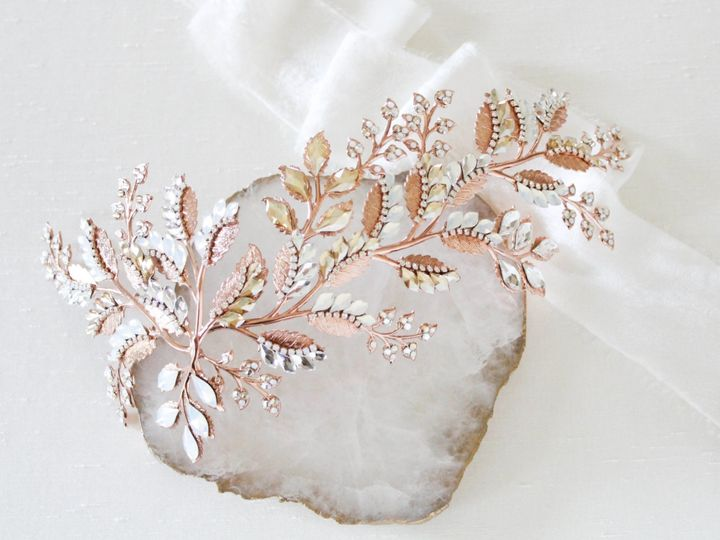 Tmx Rose Gold Swarovsi Crystal Bridal Hair Comb 4106x3016 51 204409 158446806876924 Allentown, PA wedding jewelry