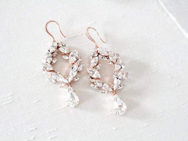 Tmx Rose Gold Swarovski Crystal Earrings 794x529 51 204409 158446330216523 Allentown, PA wedding jewelry