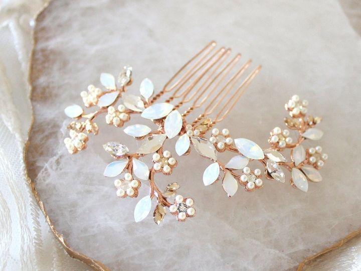 Tmx Rose Gold Swarovski White Opal Hair Comb 1294x1010 51 204409 158446794335153 Allentown, PA wedding jewelry