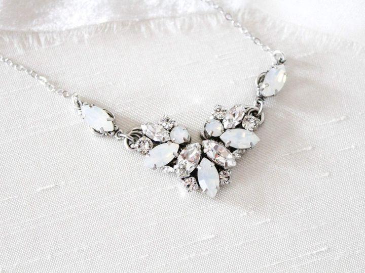 Tmx Swarovski Clear And White Opal Wedding Necklace 3000x2000 1 51 204409 158446474920874 Allentown, PA wedding jewelry