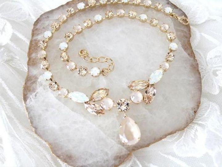 Tmx Swarovski Crystal Bridal Necklace With White Opal Stones 758x505 51 204409 158446459090852 Allentown, PA wedding jewelry
