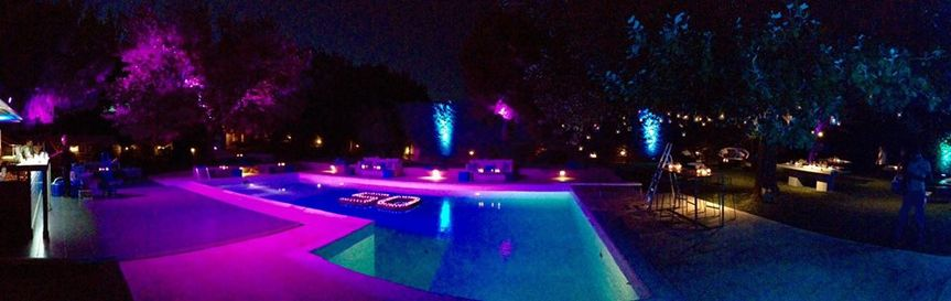 Poolside lighting
