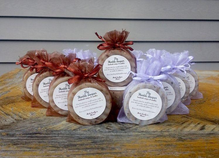 Mini soap wedding favors!