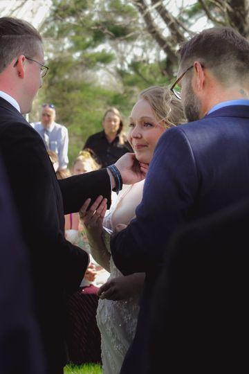 Ceremony candid