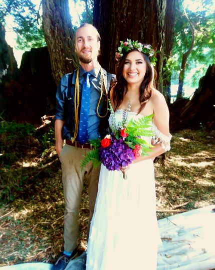 What could be more romantic than getting married in a redwood grove?