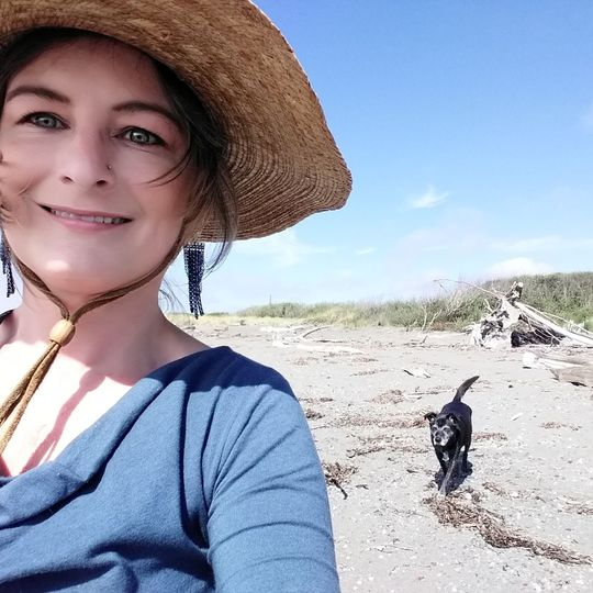 Lola and I enjoying the beach.