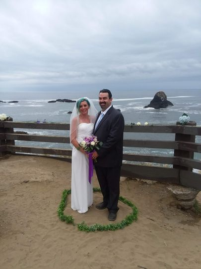 Leufenholtz Point in Trinidad is a stunning and picturesque place for a ceremony.