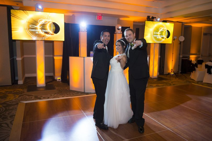Newlyweds with the DJ