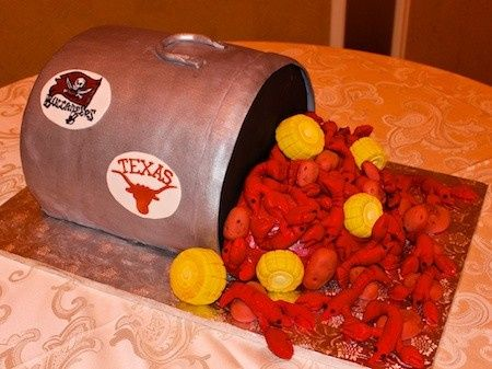 Tmx 1368663520361 Crawfish Groom Cake 1 Austin, Texas wedding cake