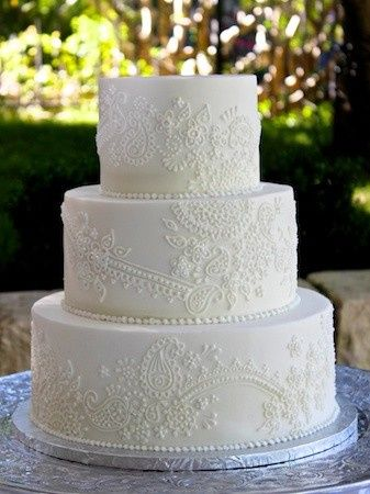 Tmx 1390680957178 3 Tier Henna Scrol Austin, Texas wedding cake