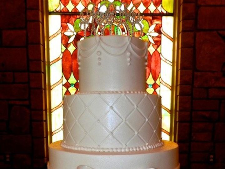 Tmx 1390680959347 Elegant Buttercrea Austin, Texas wedding cake