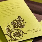 Tmx 1288205656367 BrownonGreen Clifton wedding invitation