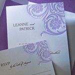 Tmx 1288205659476 LavenderSwirls Clifton wedding invitation