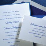 Tmx 1288205662554 WhiteonSapphire Clifton wedding invitation