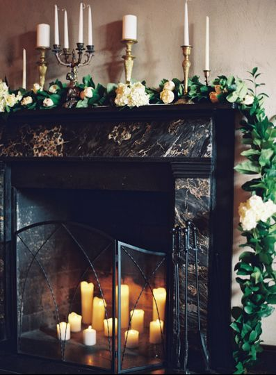 Mantle Garland and Decor