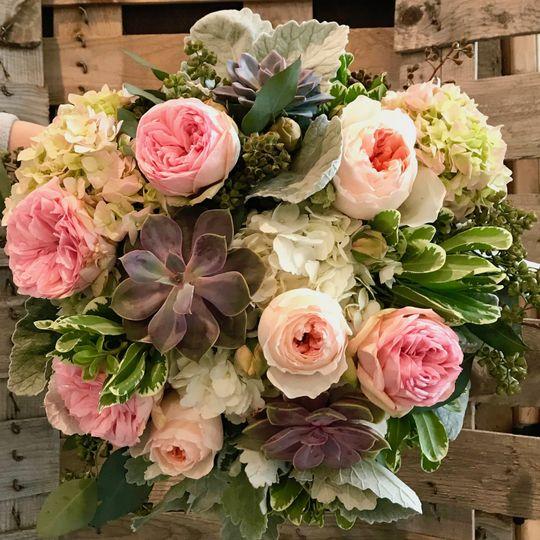 Succulents & Roses Bridal Bouq