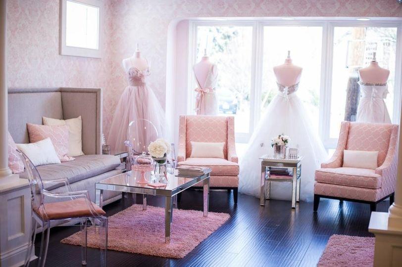 Dresses on display