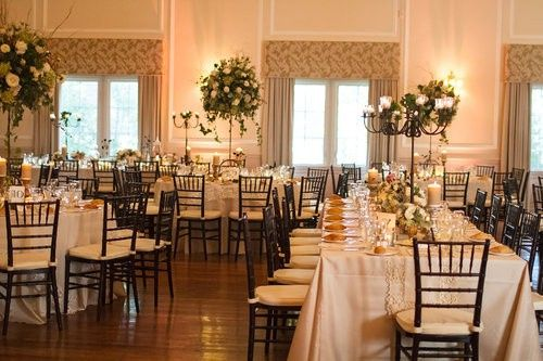 Square Tables in Ballroom