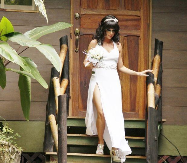 bride appears