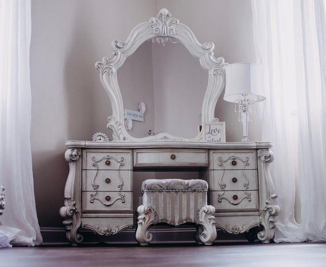Vintage beauty table