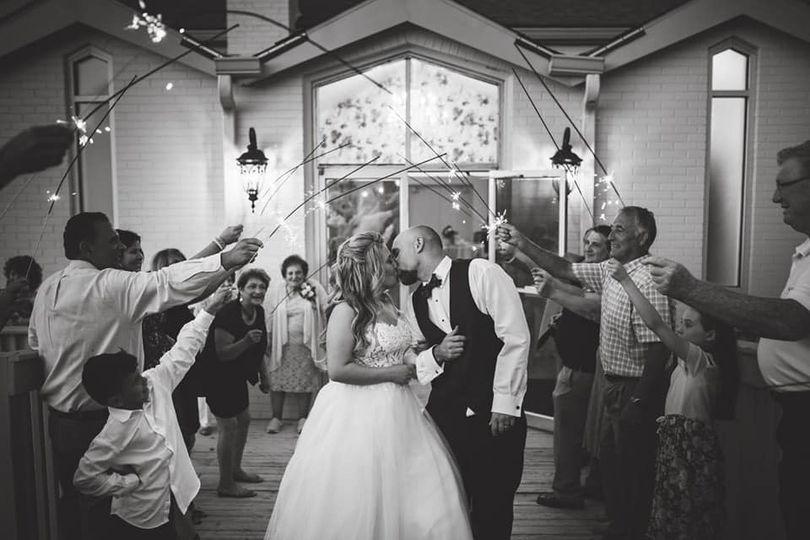 Newlyweds send-off