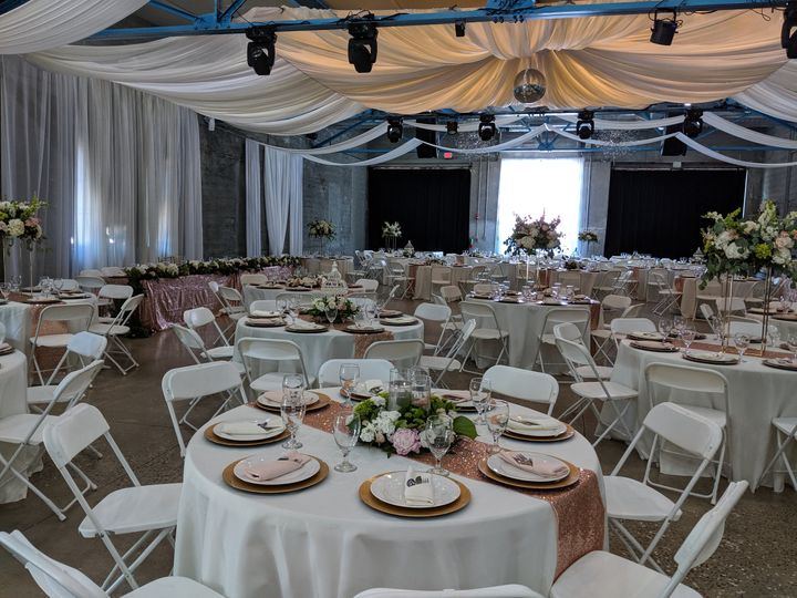 Roxy reception set up
