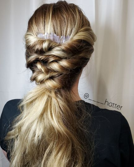 Sleek bridal hairstyle