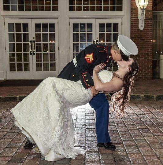 An extravagant kiss