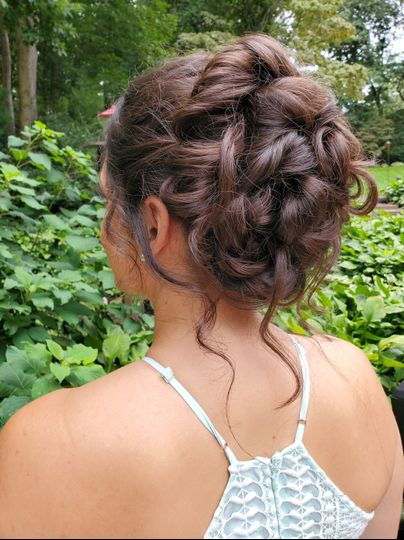 A sophisticated updo
