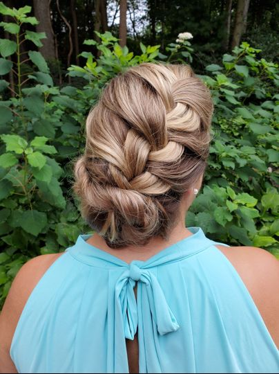 Intricate braid styling
