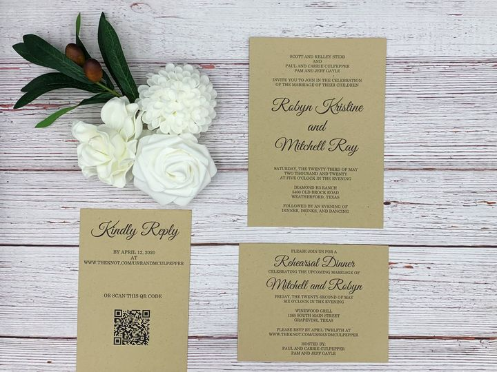 Tmx Robin 1 Edited 51 1991509 160201435454728 Fort Worth, TX wedding invitation