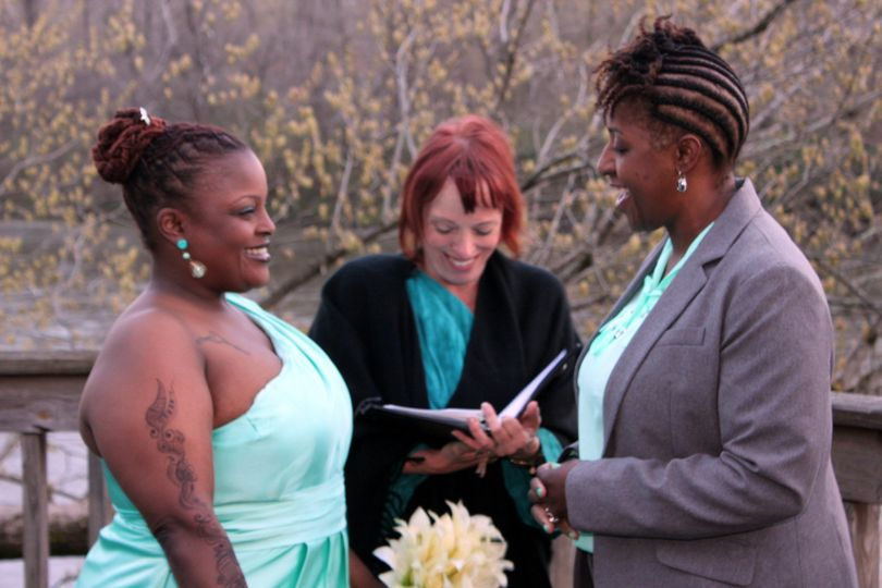 Officiant heading a wedding ceremony