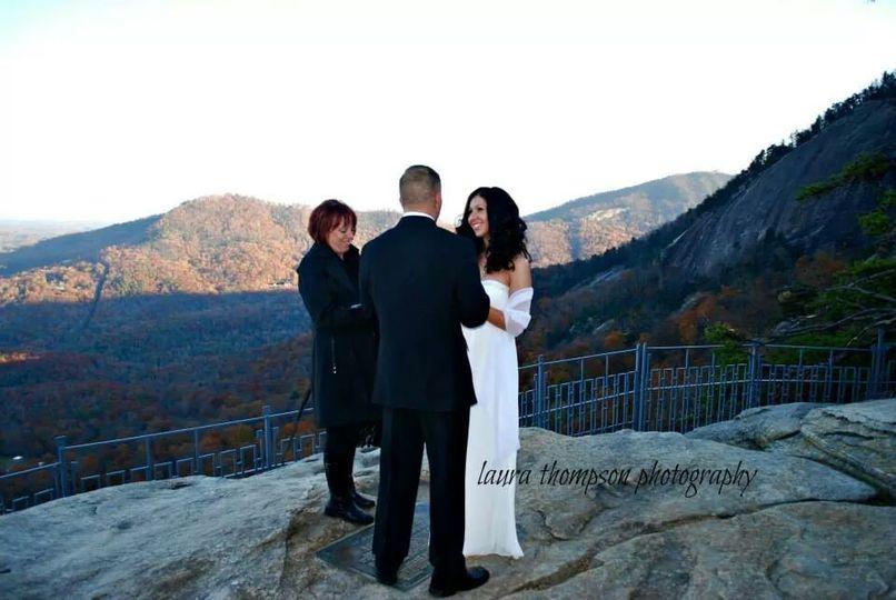 Wedding on the mountains