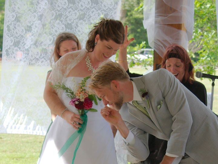 Tmx 1469467872063 Abby  Mike Laying Down Broom Asheville, North Carolina wedding officiant