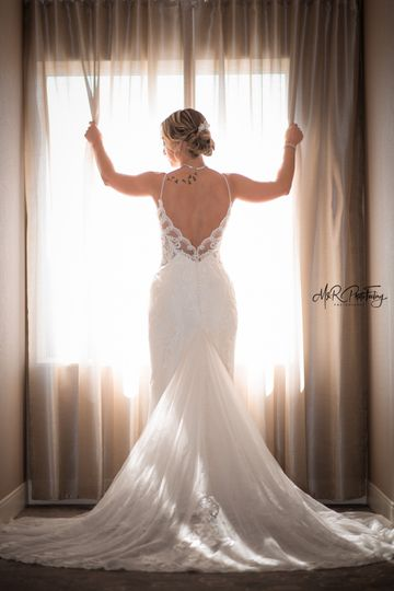 Gown illuminated
